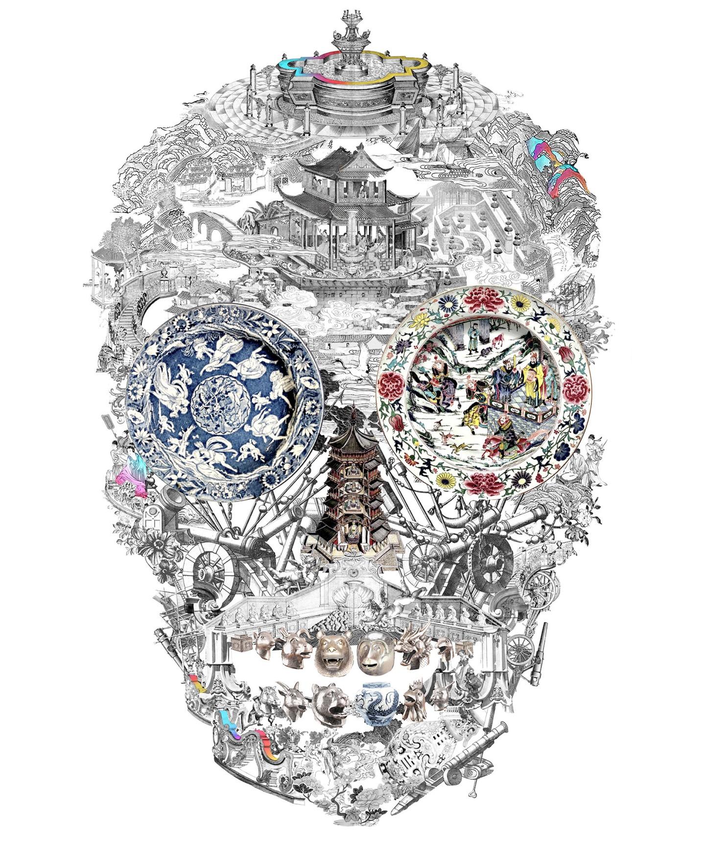 Summer Palace Skull (Lenticular)